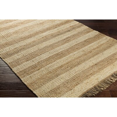 Boughner Hand-Woven Brown/Neutral Area Rug Rug Size: Rectangle 2' x 3'