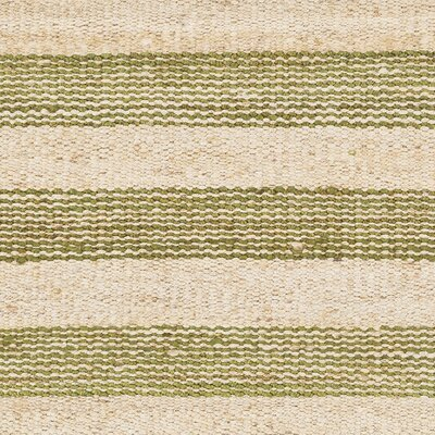Charlemont Hand-Woven Green/Neutral Area Rug Rug Size: Rectangle 4 x 6