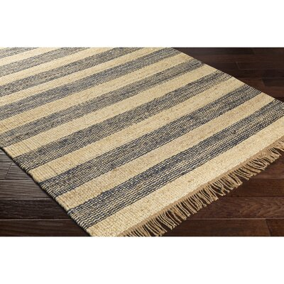 Boughner Hand-Woven Rectangle Blue/Neutral Area Rug Rug Size: Rectangle 4 x 6