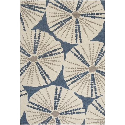 Claiborne Hand-Hooked Blue/Brown Area Rug Rug Size: Rectangle 2 x 3