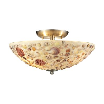 Merganser 3-Light Semi Flush Mount
