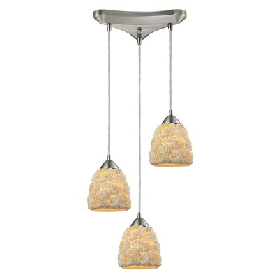Mariam Bunched shells 3-Light Kitchen Island Pendant