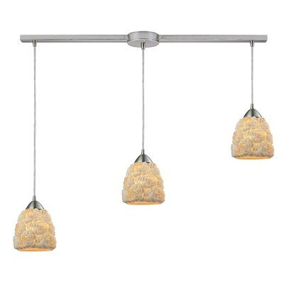 Mariam Medium Bulb 3-Light Kitchen Island Pendant