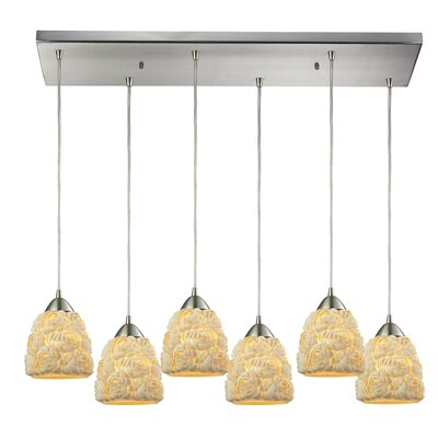 Mariam Bunched shells 6-Light Kitchen Island Pendant