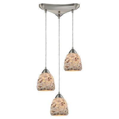 Mariam Metal 3-Light Cascade Pendant