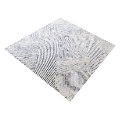 Lia Dryden Hand-Tufted Ivory/Blue Area Rug Rug Size: Rectangle 9 x 12
