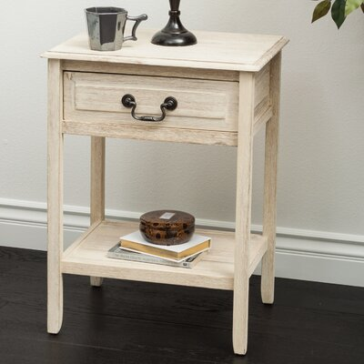 Glover Acacia Wood End Table Finish: Brown Mahogany