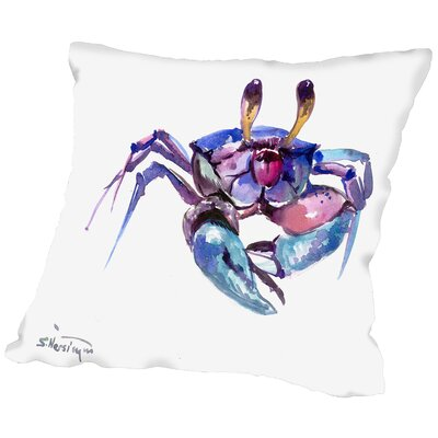 Doctor Phillips Crab Throw Pillow Size: 16 H x 16 W x 2 D