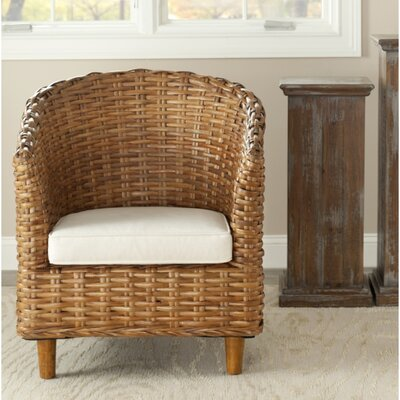 Biscayne Barrel Chair Finish: Honey
