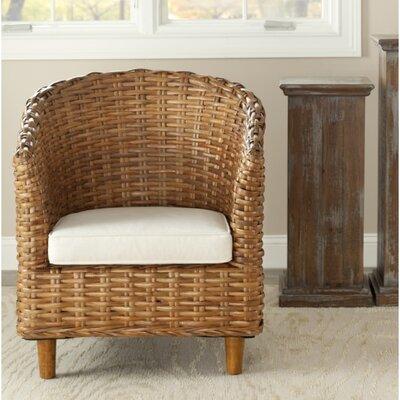 Biscayne Barrel Chair Finish: Honey