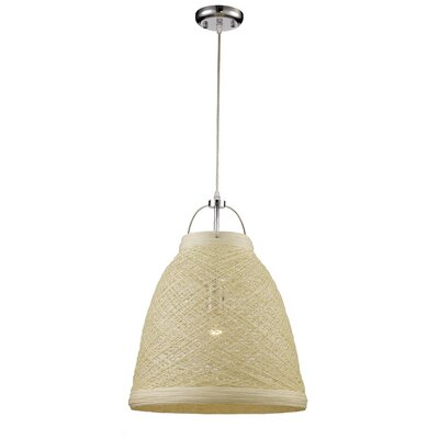 Corey 1-Light Mini Pendant Shade color: Taupe Yarn