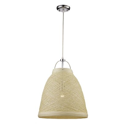 Corey 1-Light Mini Pendant Shade color: White Yarn