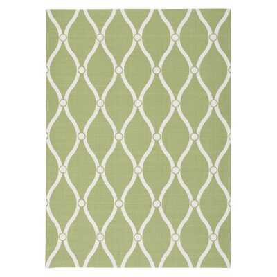 Creedmoor Green Indoor/Outdoor Rug Rug Size: 43 x 63
