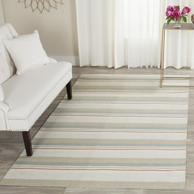 Caja Hand-Woven Gray/Brown/Blue Area Rug Rug Size: 5 x 8