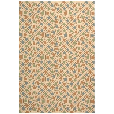 Slayton Hand-Hooked Green/Blue Area Rug