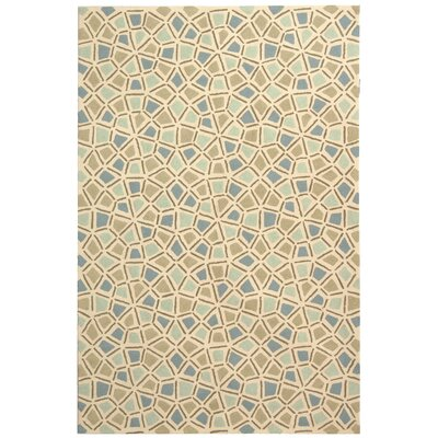 Slayton Hand-Hooked Teal/Blue Area Rug