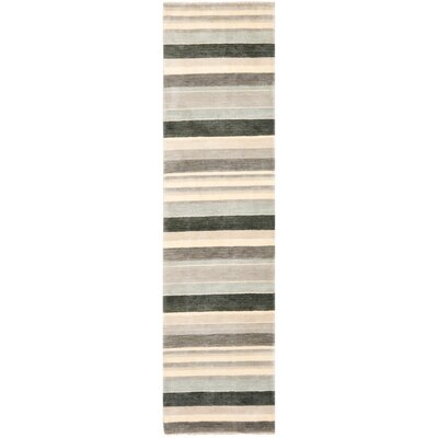 Brookvale Hand-Knotted Gray Area Rug Rug Size: Runner 2 x 8