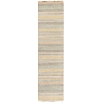Brookvale Hand-Knotted Silver Area Rug Rug Size: Runner 2 x 8