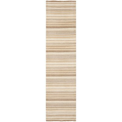 Brookvale Hand-Knotted Natural Area Rug Rug Size: Runner 2 x 8