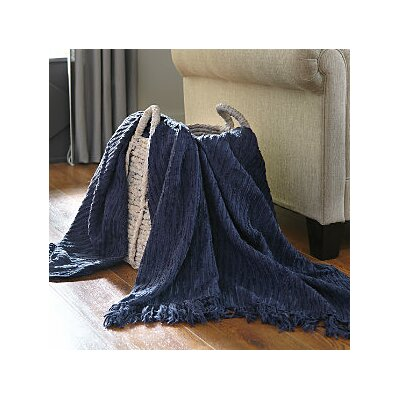 Glenbrook Throw Blanket Color: Navy