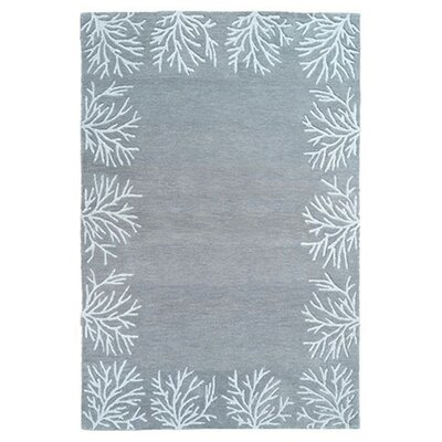 Brooksville Hand-Tufted Gray/White Area Rug Rug Size: 5 x 8