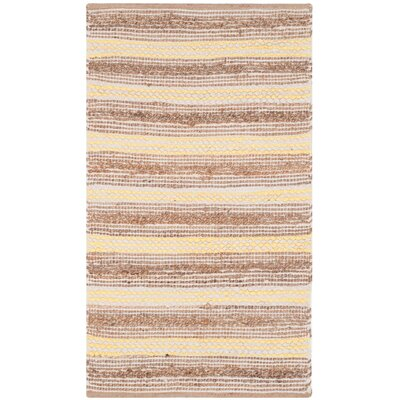 Arria Hand-Woven Natural/Yellow Cotton Area Rug