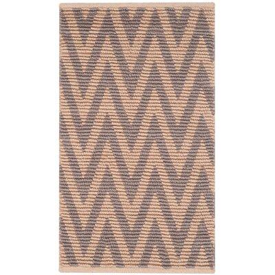 Palm Coast Hand-Woven Natural/Gray Area Rug