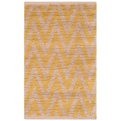 Arria Hand-Woven Natural/Yellow Area Rug