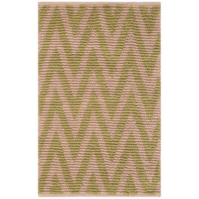 Arria Hand-Woven Natural/Green Area Rug