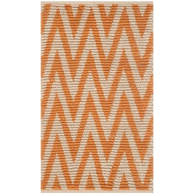 Arria Hand-Woven Natural/Orange Area Rug