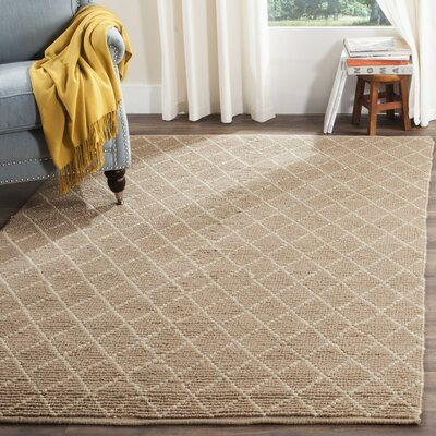 Arria Hand-Woven Natural/Ivory Area Rug Rug Size: Rectangle 3 x 5