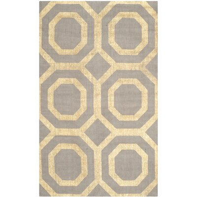 Columbus Circle Hand-Woven Brown/Ivory Area Rug Rug Size: Rectangle 9 x 12