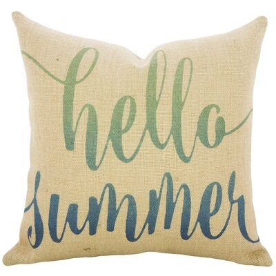 Fruitland Hello Summer Burlap Throw Pillow