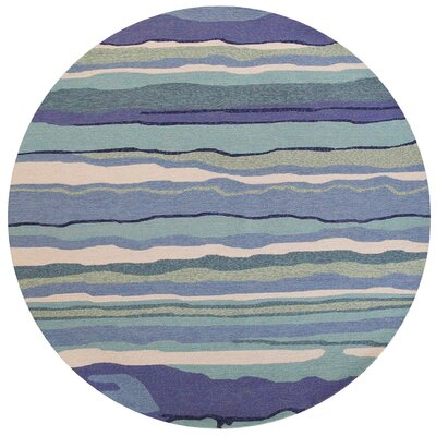 Weybridge Handmade Blue Indoor/Outdoor Area Rug Rug Size: Round 76