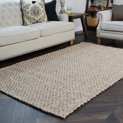 Northport Hand-Woven Silver/Bleach Area Rug Rug Size: 8 x 10