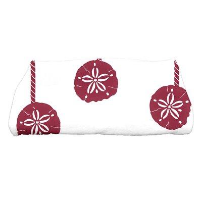 Ashwin Sanddollar Ornaments Bath Towel Color: Cranberry