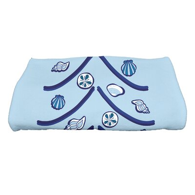 Shruthi Sand Tree Bath Towel Color: Blue