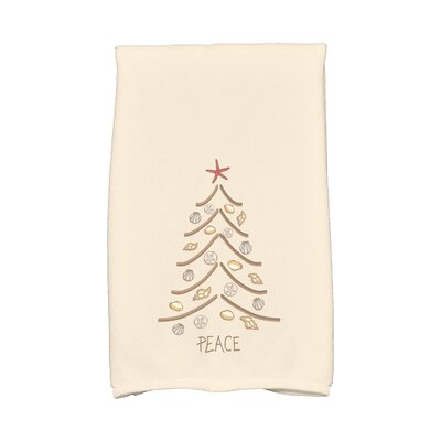 Enid Sand Tree Hand Towel Color: Beige