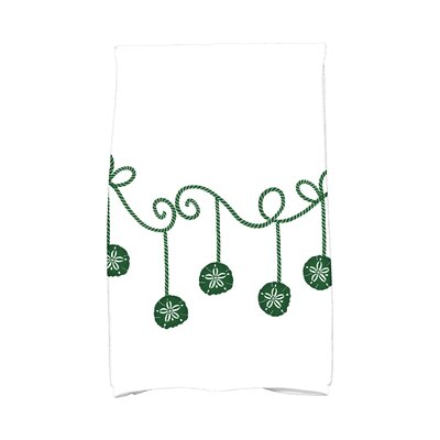 Coastal Christmas Sanddollar Ornaments Hand Towel Color: Green