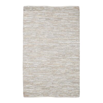 Janalee Hand-Woven Beige Area Rug Rug Size: 5 x 8