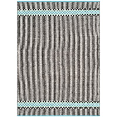 Todds Hand-Woven Black/Blue Area Rug