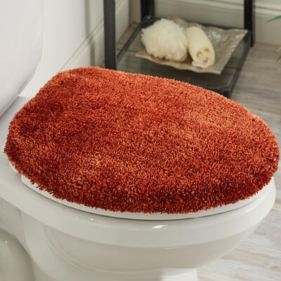 Ashmoore Toilet Seat Cover Size: 18 L x 16 W, Color: Wine