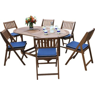 Calidia 7 Piece Dining Set with Cushion