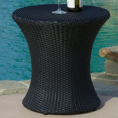 Grayling Wicker Side Table Finish: Black