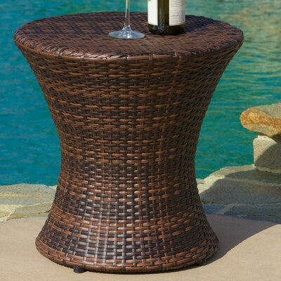 Grayling Wicker Side Table Finish: Brown