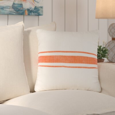 Chaliah 100% Jute Throw Pillow Color: Tangerine