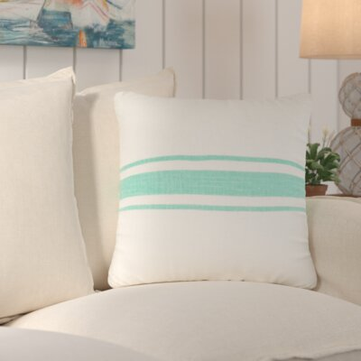 Chaliah 100% Jute Throw Pillow Color: Sea Green