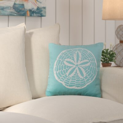 Brandon Cotton Throw Pillow Color: Aqua