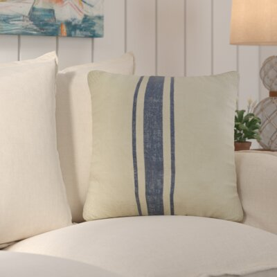 Chaliah 100% Jute Throw Pillow Color: Navy Blue