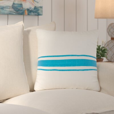 Chaliah 100% Jute Throw Pillow Color: Turquoise